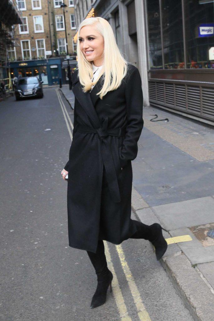Gwen Stefani Leaves Kiss FM studios in London-3