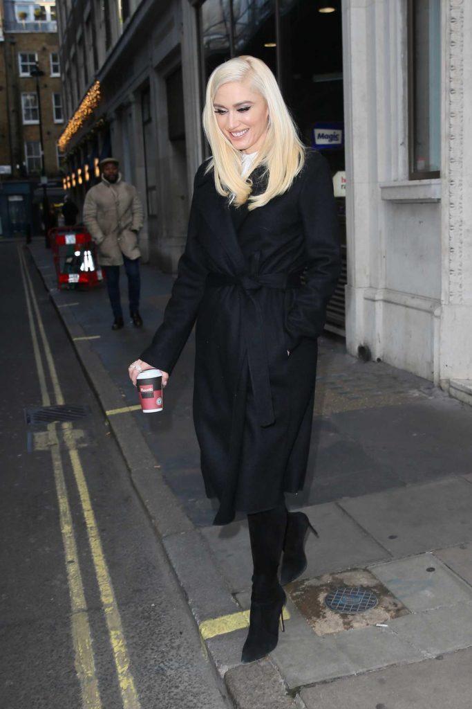 Gwen Stefani Leaves Kiss FM studios in London-4