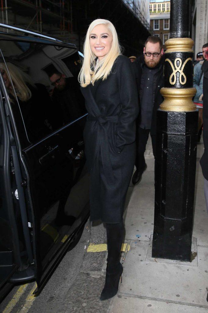 Gwen Stefani Leaves Kiss FM studios in London-5