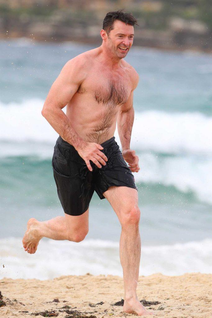 Hugh Jackman at Bondi Beach in Sydney-1