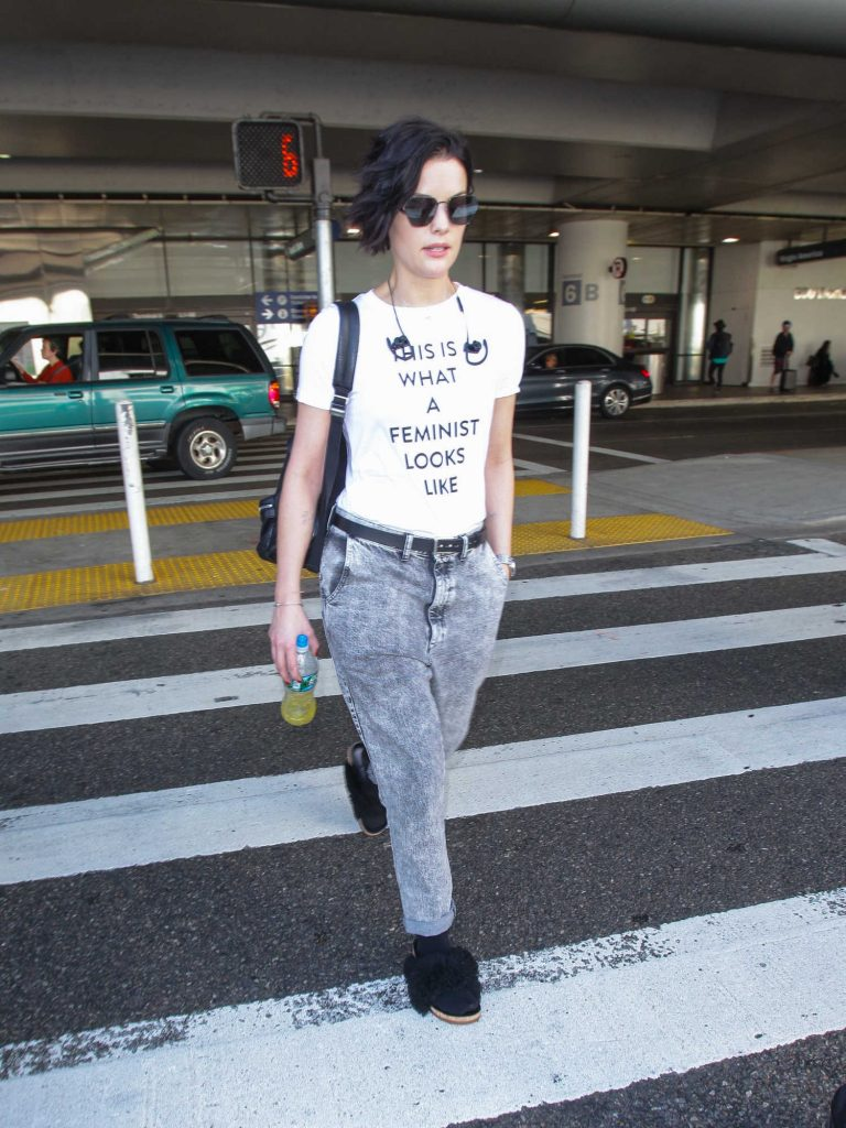 Jaimie Alexander Arrives at LAX Airport in Los Angeles-1