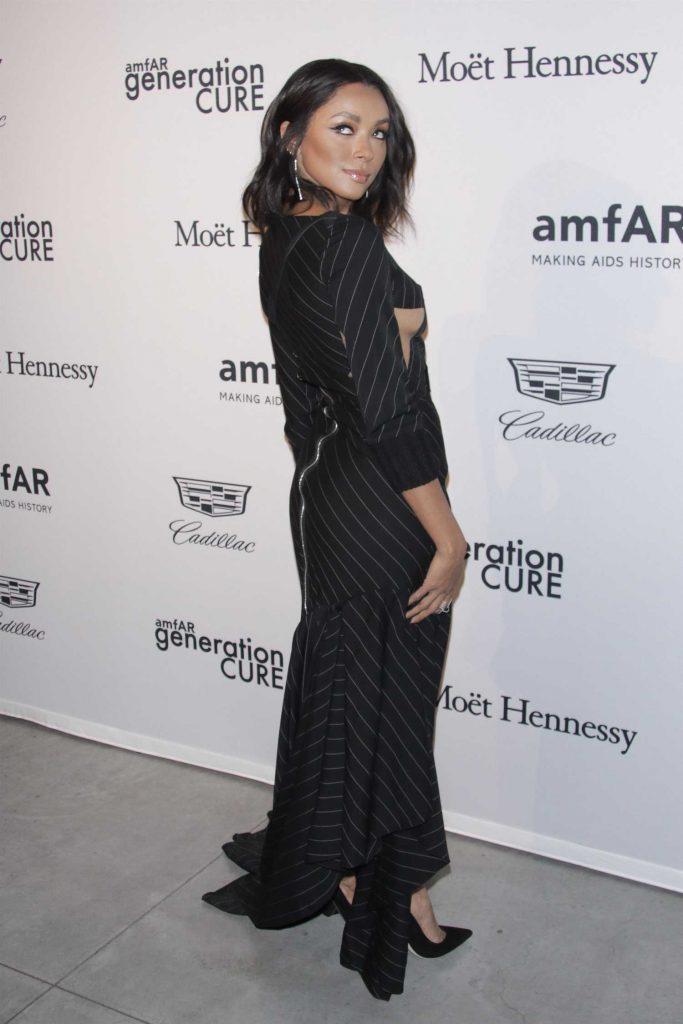 Kat Graham at 2017 amfAR GenerationCURE Holiday Party in NYC-2