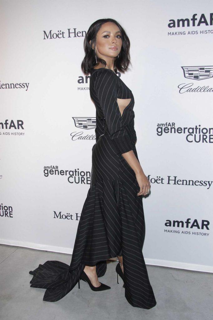 Kat Graham at 2017 amfAR GenerationCURE Holiday Party in NYC-3