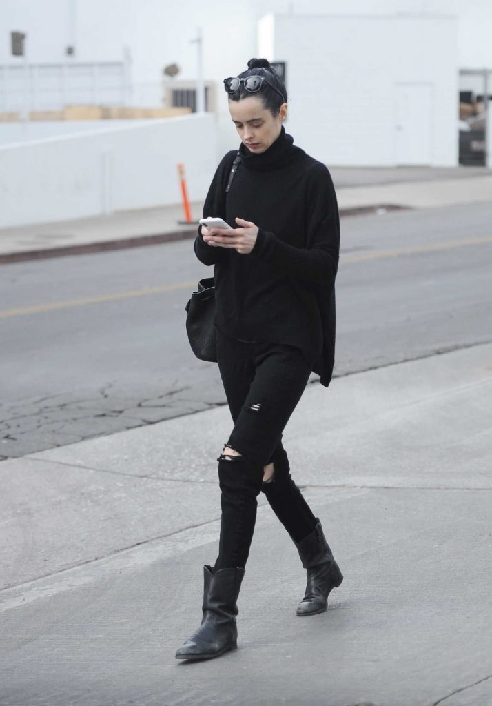 Krysten Ritter Leaves a Medical Building in LA-3