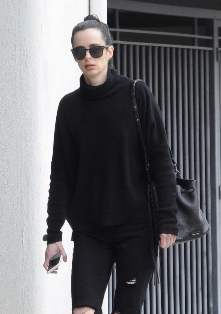 Krysten Ritter Leaves a Medical Building in LA-4