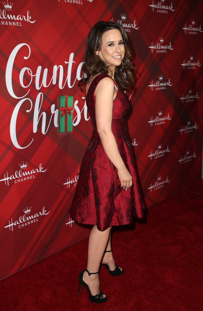 Lacey Chabert at Christmas at Holly Lodge Hallmark Channel Screening in Los Angeles-4