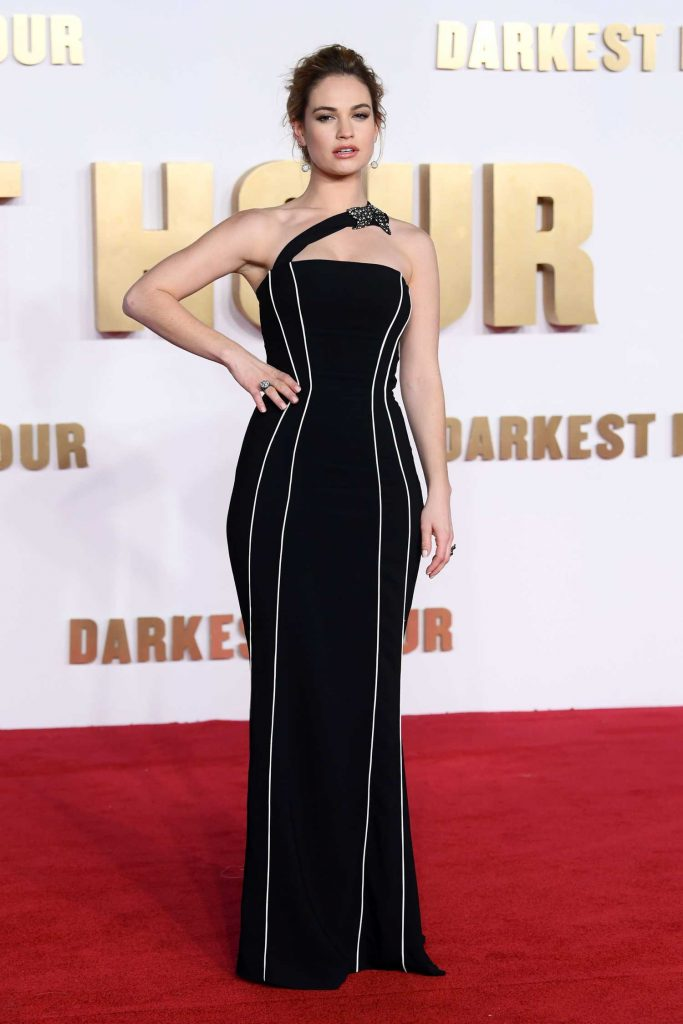 Lily James at the Darkest Hour Premiere in London-1