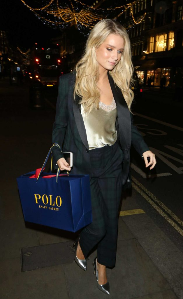 Lottie Moss Leaves Ralph Lauren Polo Bear Dinner at Ralph's Coffee in London-4