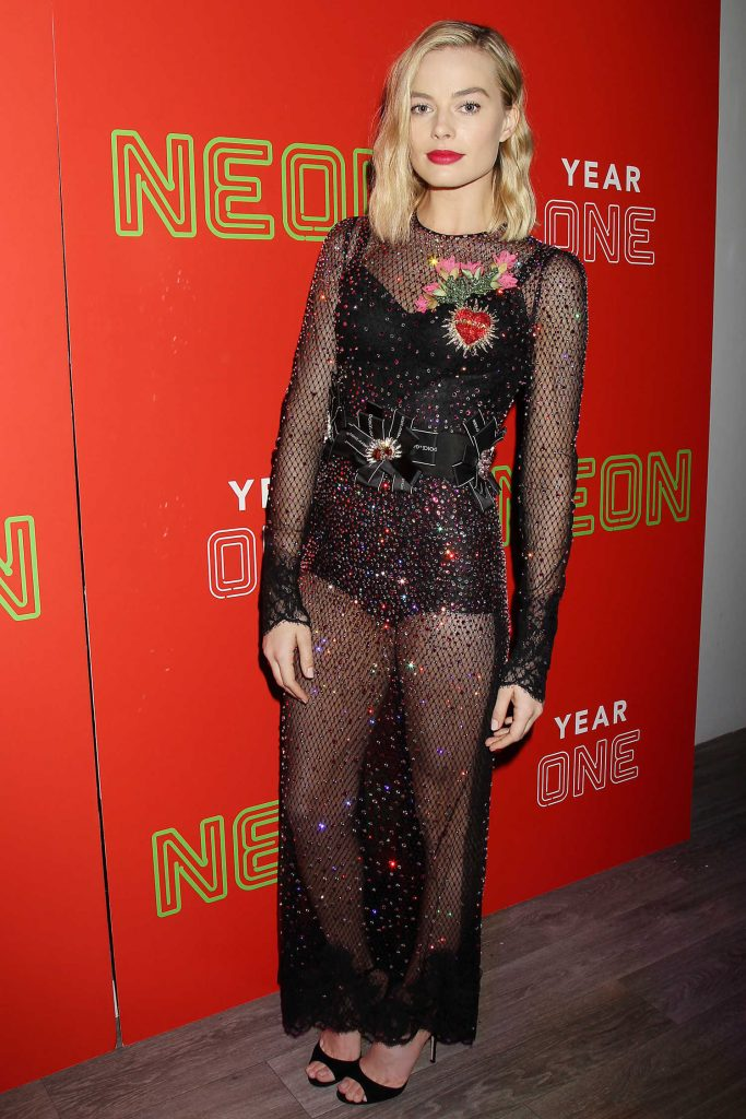 Margot Robbie at the First Annual Neon Holiday Party in New York-1
