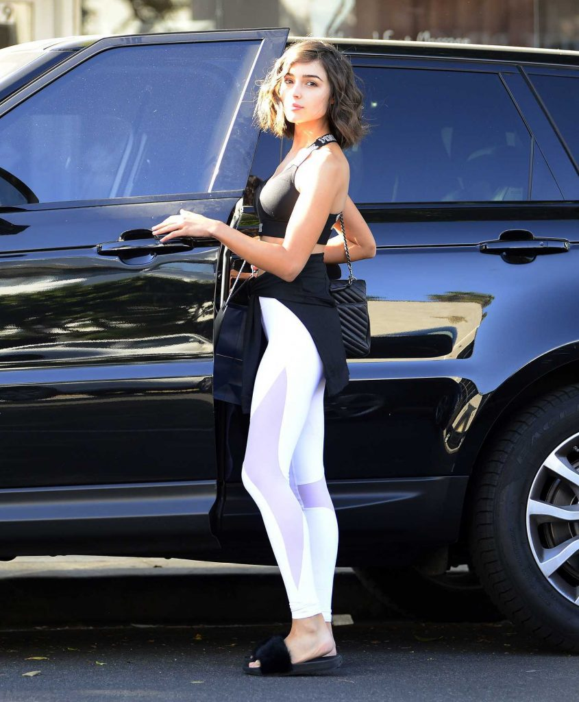 Olivia Culpo Leaves a Hair Salon in Beverly Hills-5
