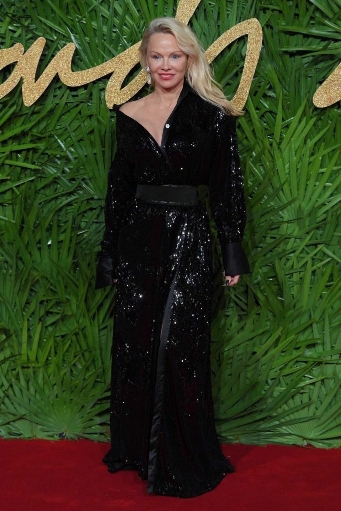Pamela Anderson at 2017 British Fashion Awards at the Royal Albert Hall in London-1