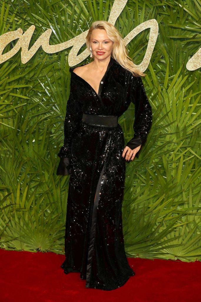 Pamela Anderson at 2017 British Fashion Awards at the Royal Albert Hall in London-2