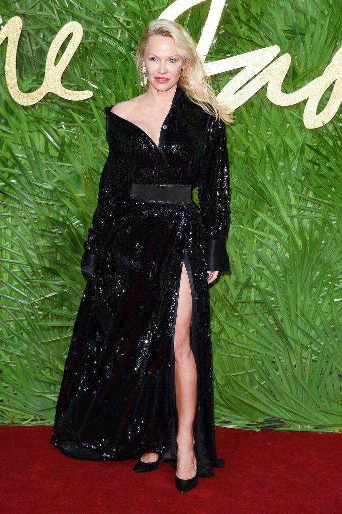 Pamela Anderson at 2017 British Fashion Awards at the Royal Albert Hall in London-3
