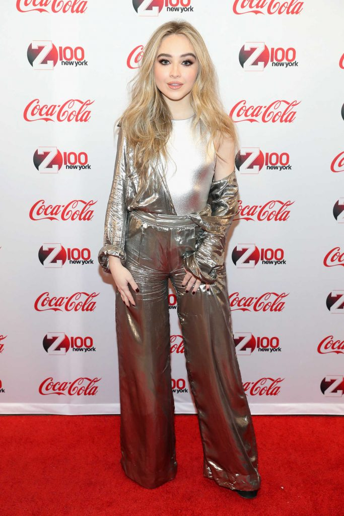 Sabrina Carpenter at Z100 and Coca-Cola All Access Lounge at Hammerstein Ballroom in NYC-1