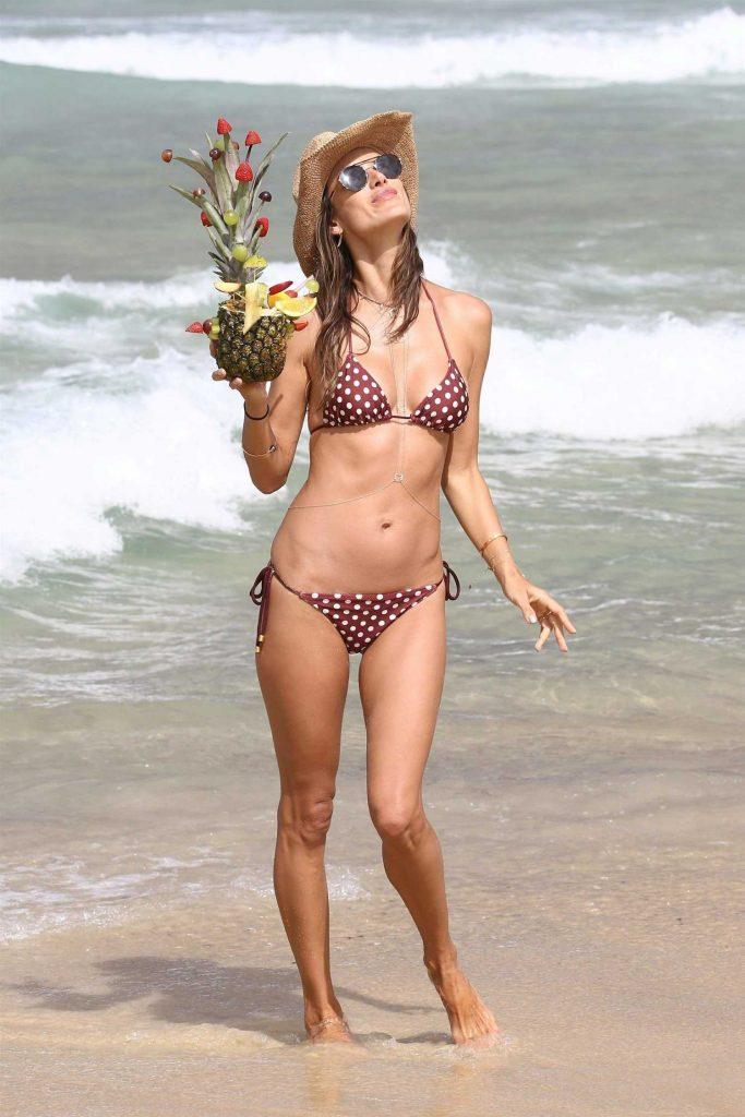 Alessandra Ambrosio in Bikini at the Beach in Praia Brava, Brazil-1