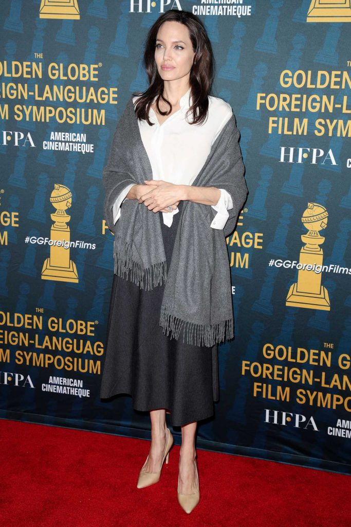 Angelina Jolie at 2018 Golden Globe Foreign-Language Nominees Series Symposium at Egyptian Theatre in Los Angeles-1