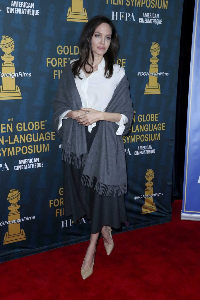 Angelina Jolie at 2018 Golden Globe Foreign-Language Nominees Series Symposium at Egyptian Theatre in Los Angeles-2