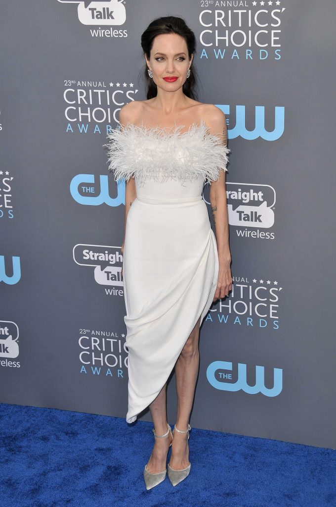 Angelina Jolie at the 23rd Annual Critics' Choice Awards in Santa Monica-1