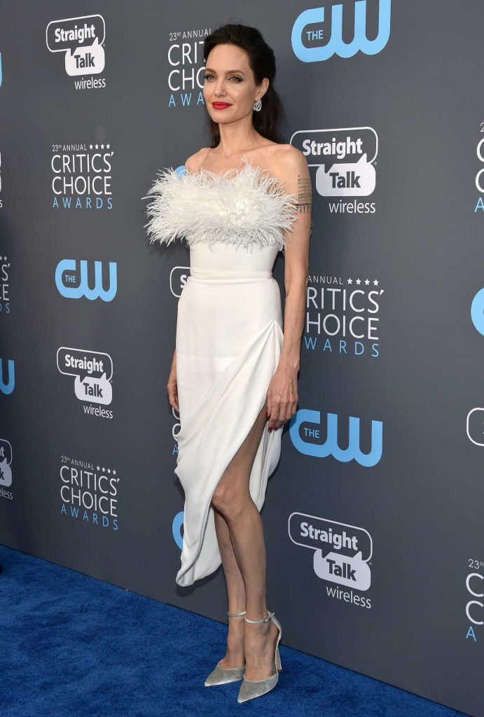 Angelina Jolie at the 23rd Annual Critics' Choice Awards in Santa Monica-3