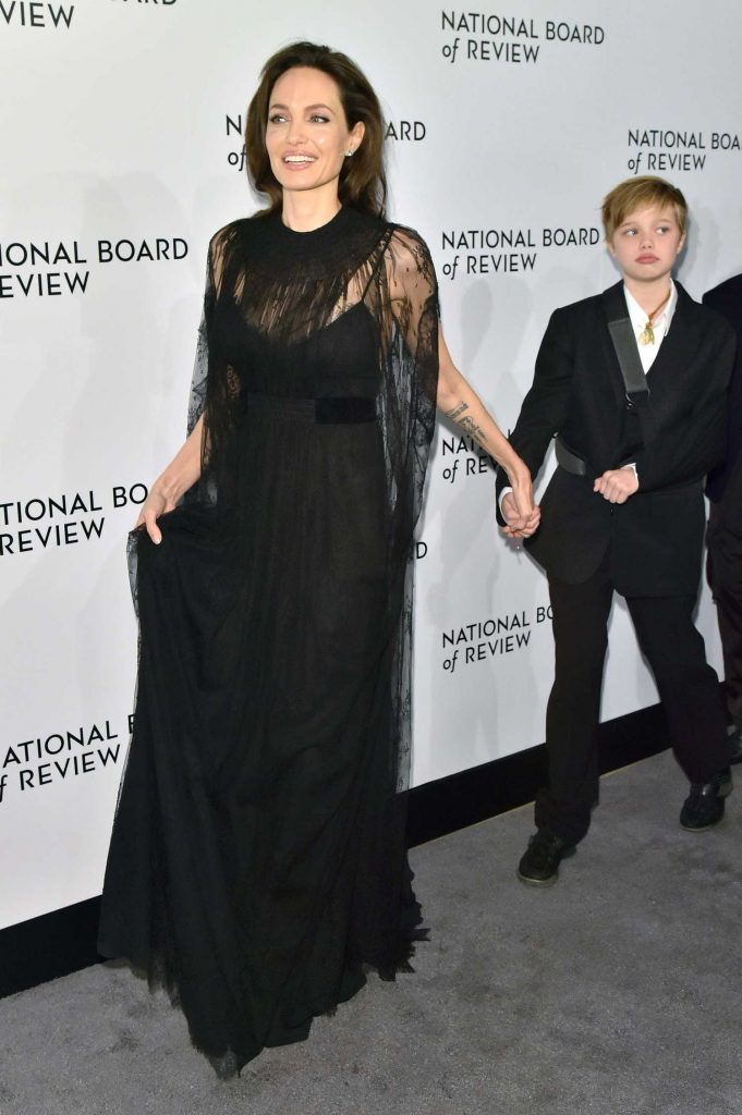 Angelina Jolie at The National Board of Review Annual Awards Gala at Cipriani 42nd Street in New York City-3
