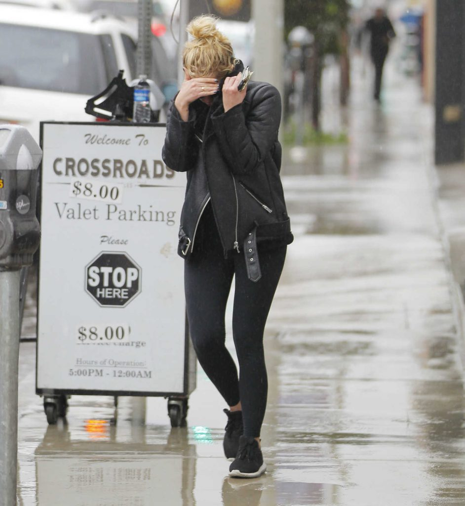 Ashley Benson Wears a Leather Jacket in West Hollywood-3