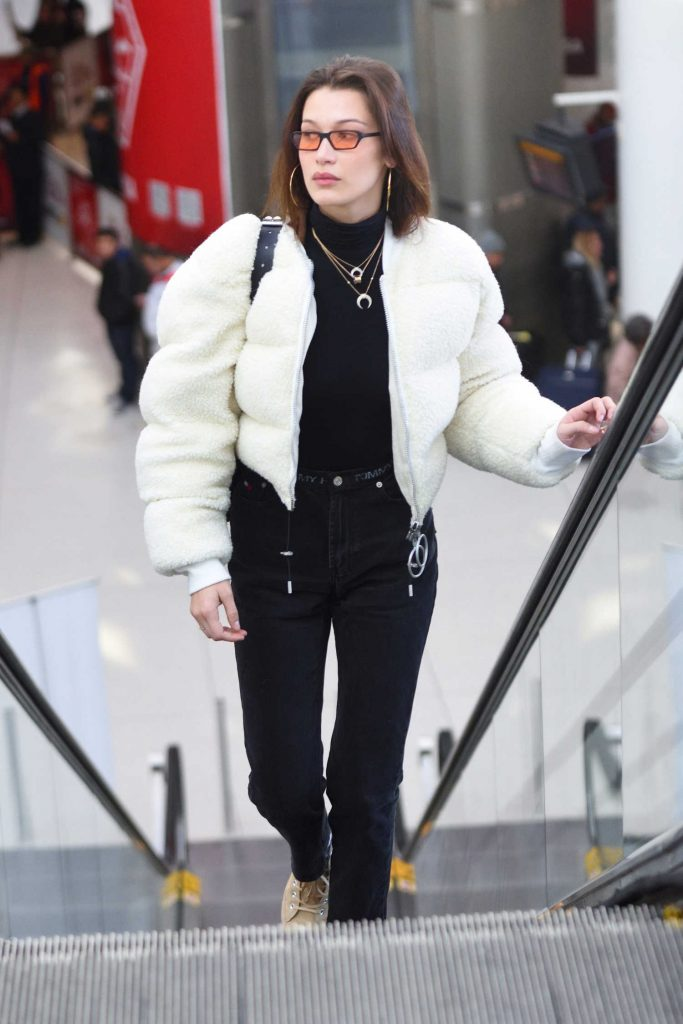 Bella Hadid Arrives at JFK Airport in New York City-1