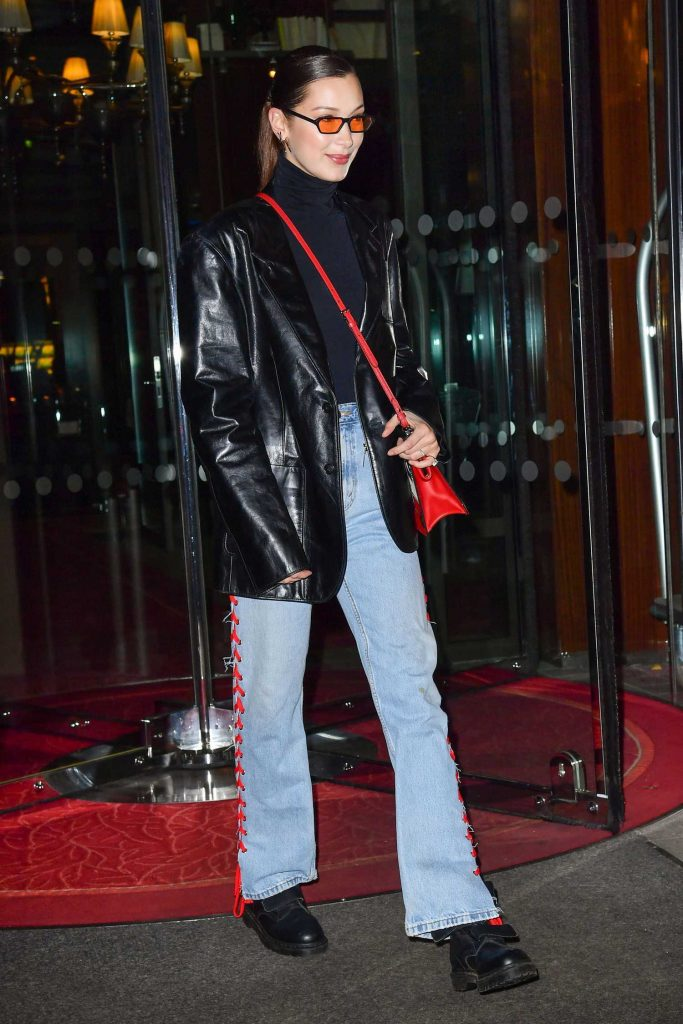 Bella Hadid Leaves Her Hotel in Paris-2