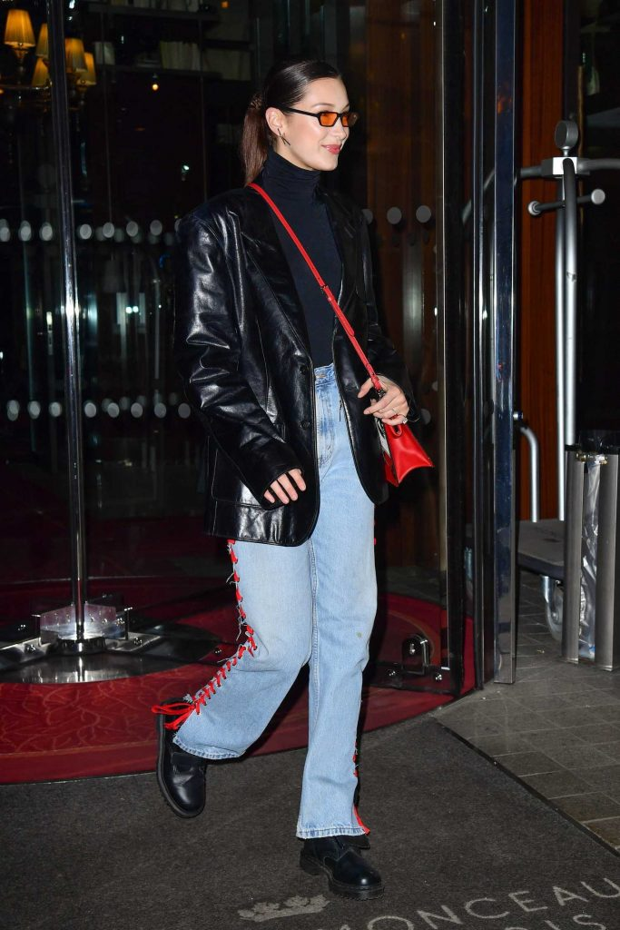 Bella Hadid Leaves Her Hotel in Paris-3