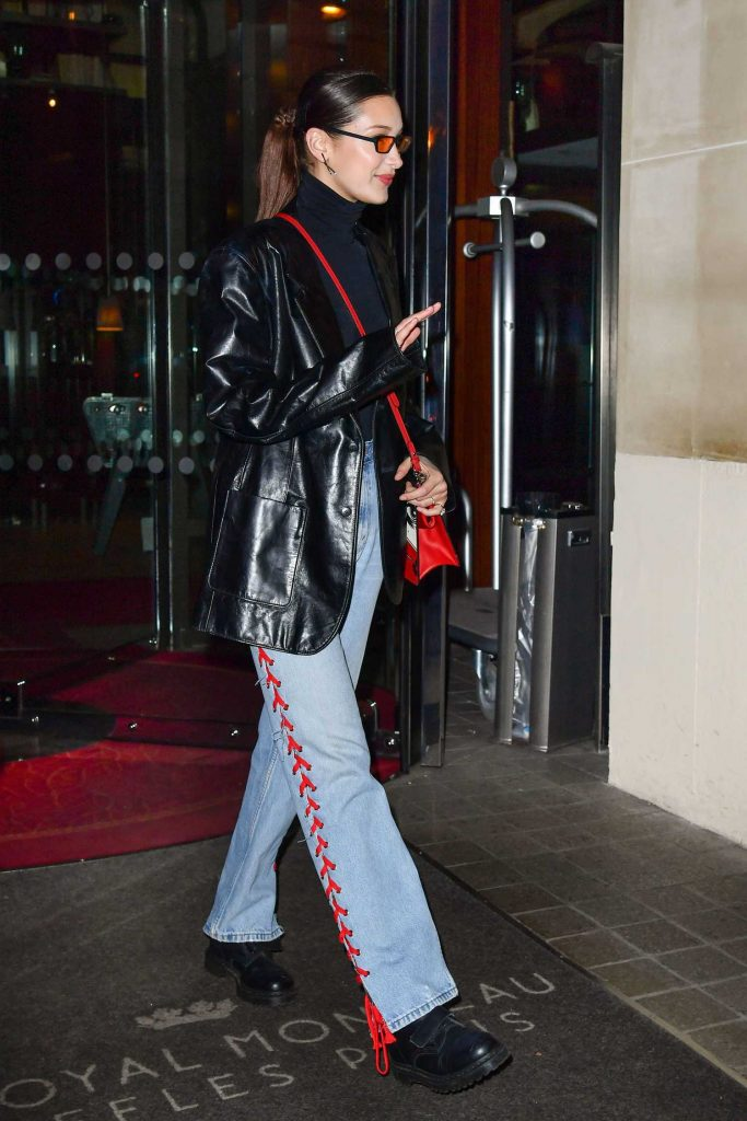 Bella Hadid Leaves Her Hotel in Paris-4