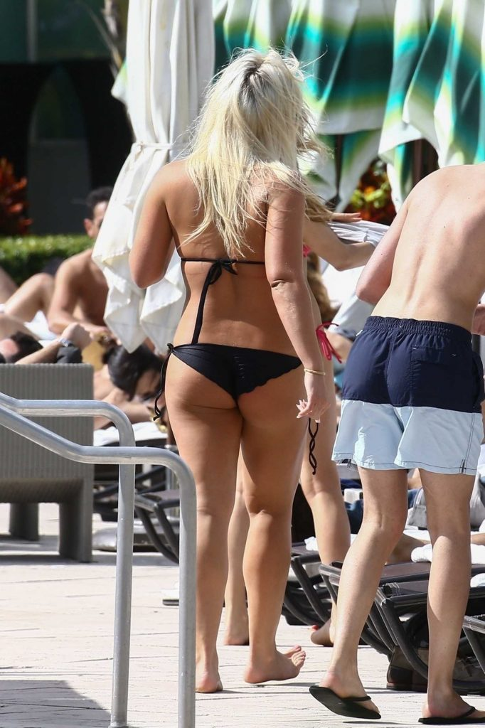 Brooke Hogan in Bikini in Miami-5