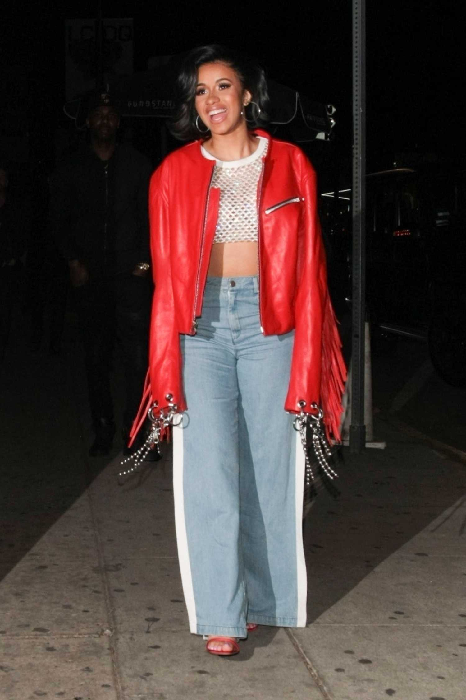 cardi b arrives at the nice guy restaurant in west