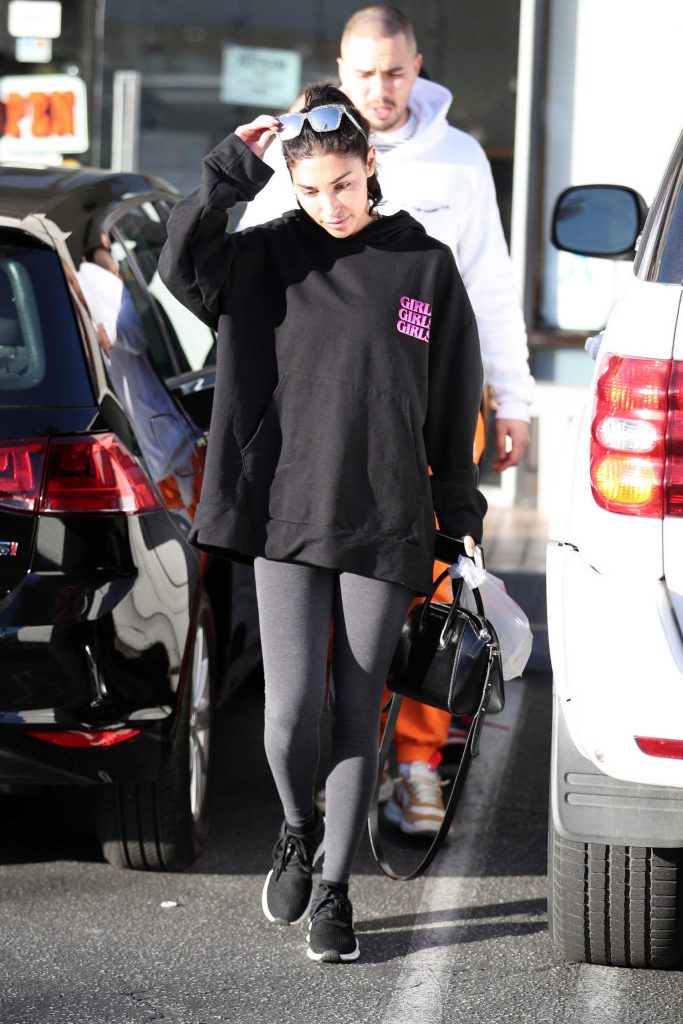 Chantel Jeffries Wears a Girls Girls Girls Hoodie in LA-1