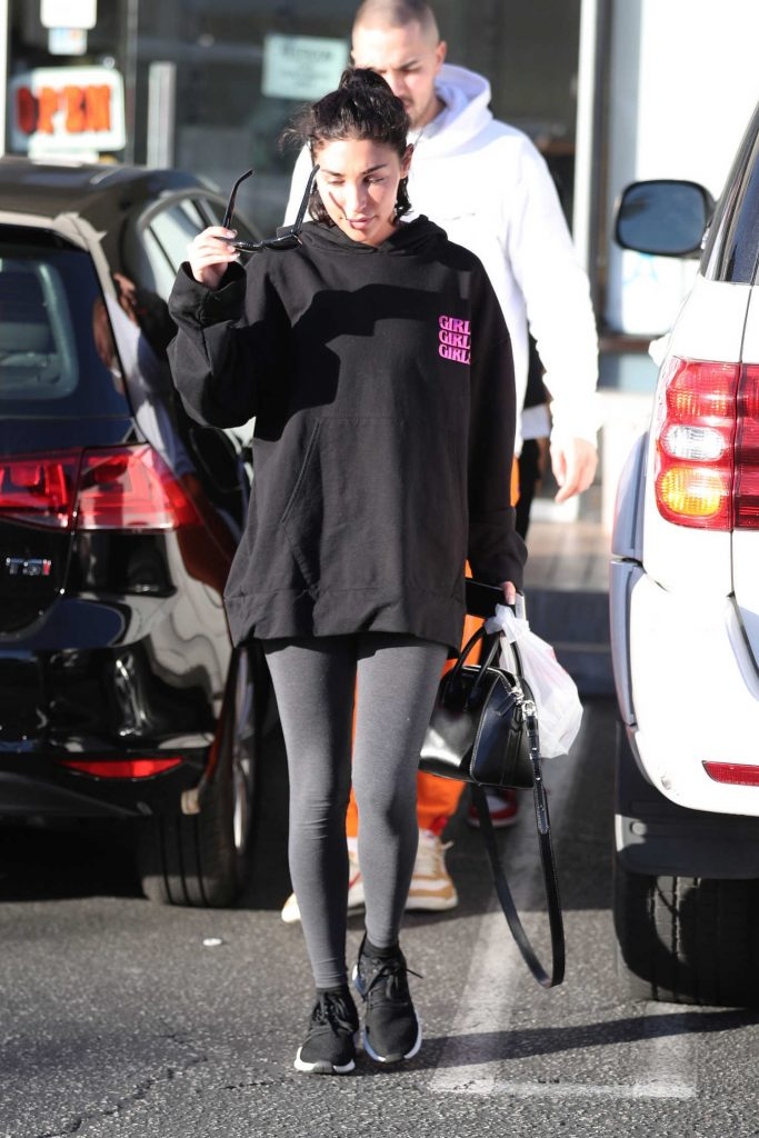 Chantel Jeffries Wears a Girls Girls Girls Hoodie in LA-2