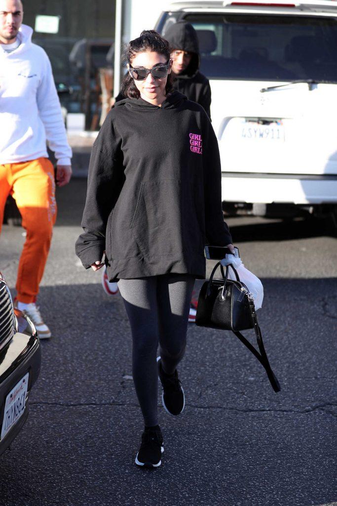 Chantel Jeffries Wears a Girls Girls Girls Hoodie in LA-3