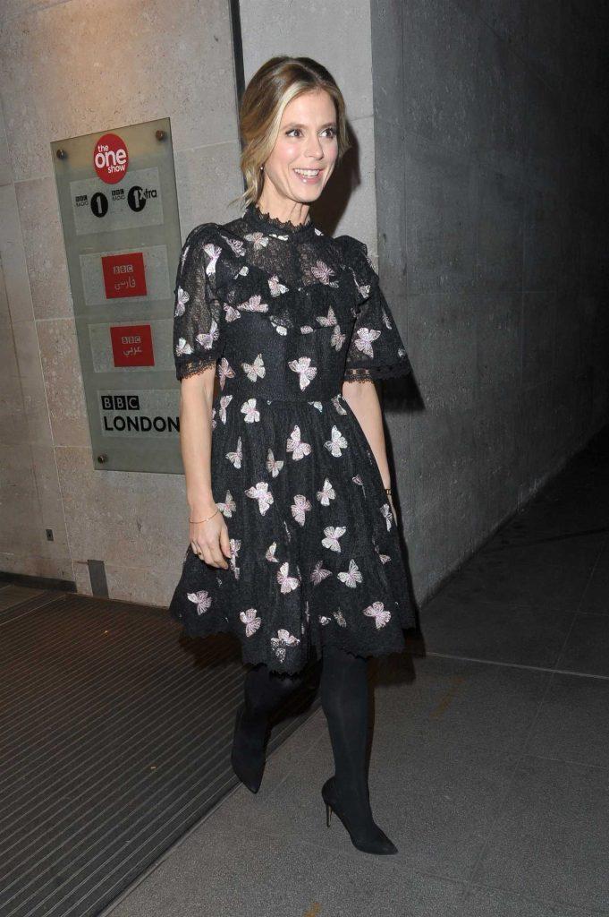 Emilia Fox Leaves the BBC Studios in London-1