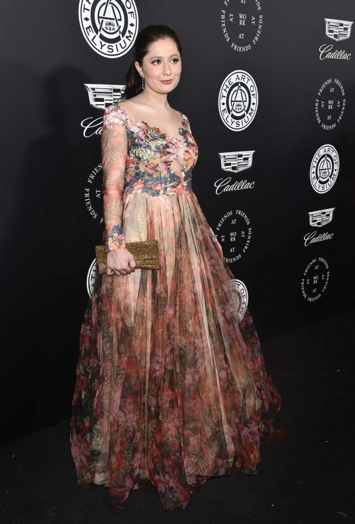 Emma Kenney at Art of Elysium 11th Annual Heaven Celebration at Barker Hangar in Santa Monica-3