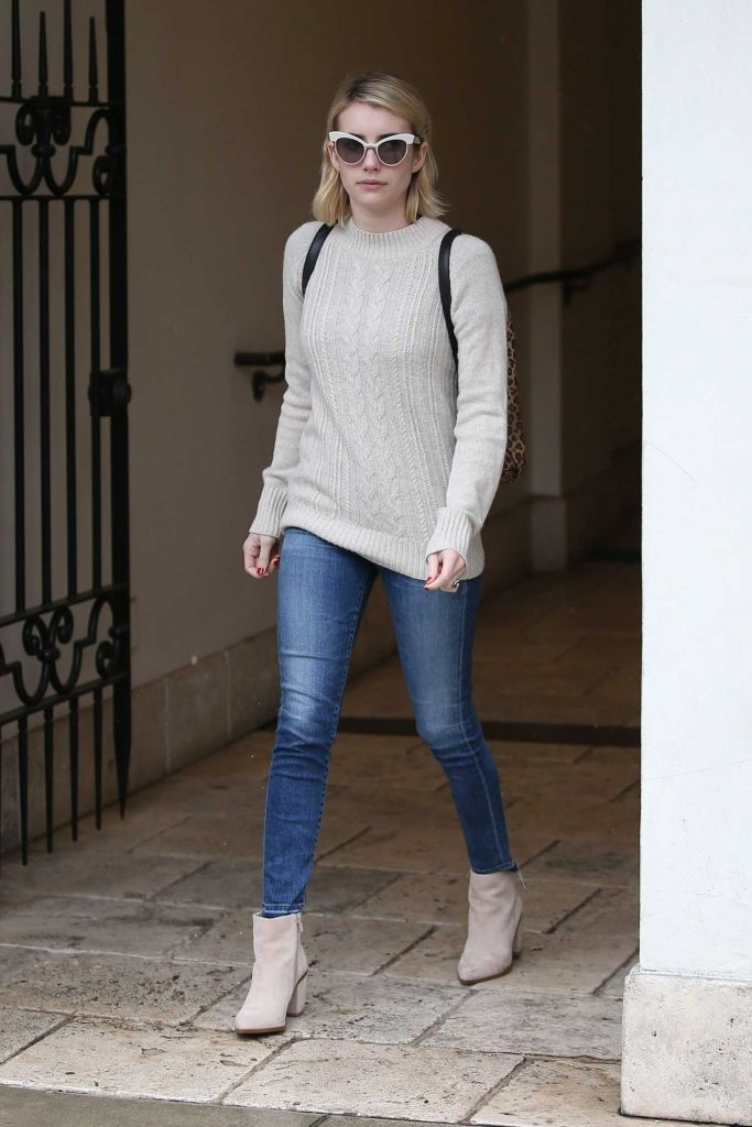 Emma Roberts Braves the LA Rain for Ralph Lauren in Beverly Hills-1