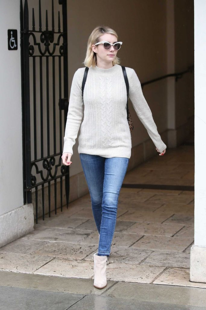 Emma Roberts Braves the LA Rain for Ralph Lauren in Beverly Hills-2