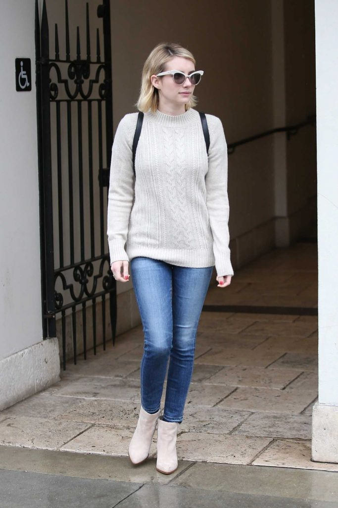 Emma Roberts Braves the LA Rain for Ralph Lauren in Beverly Hills-3