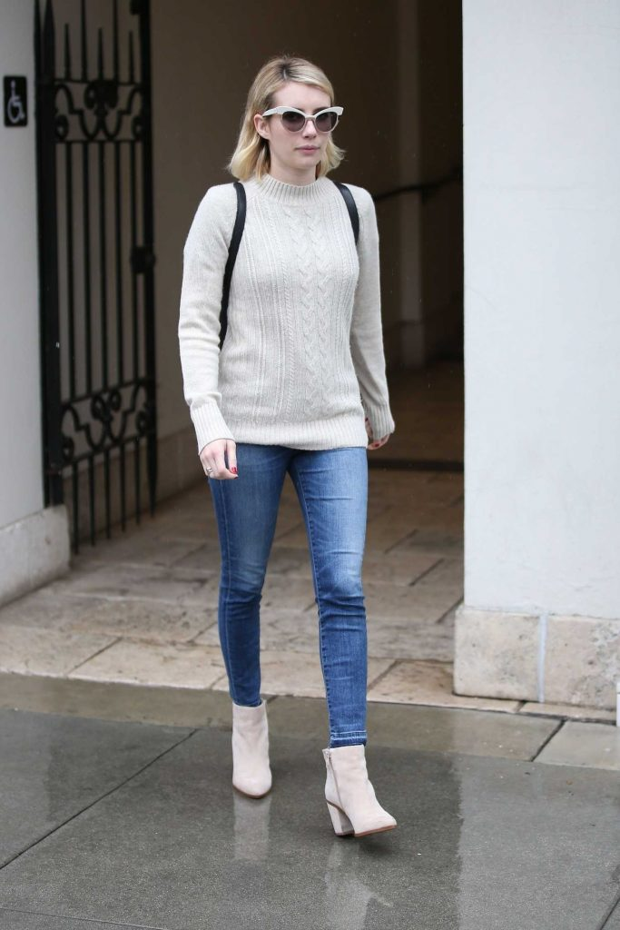 Emma Roberts Braves the LA Rain for Ralph Lauren in Beverly Hills-4