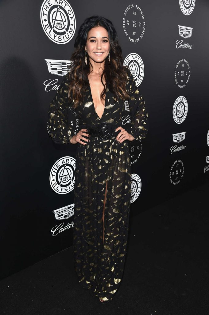 Emmanuelle Chriqui at Art of Elysium 11th Annual Heaven Celebration at Barker Hangar in Santa Monica-1