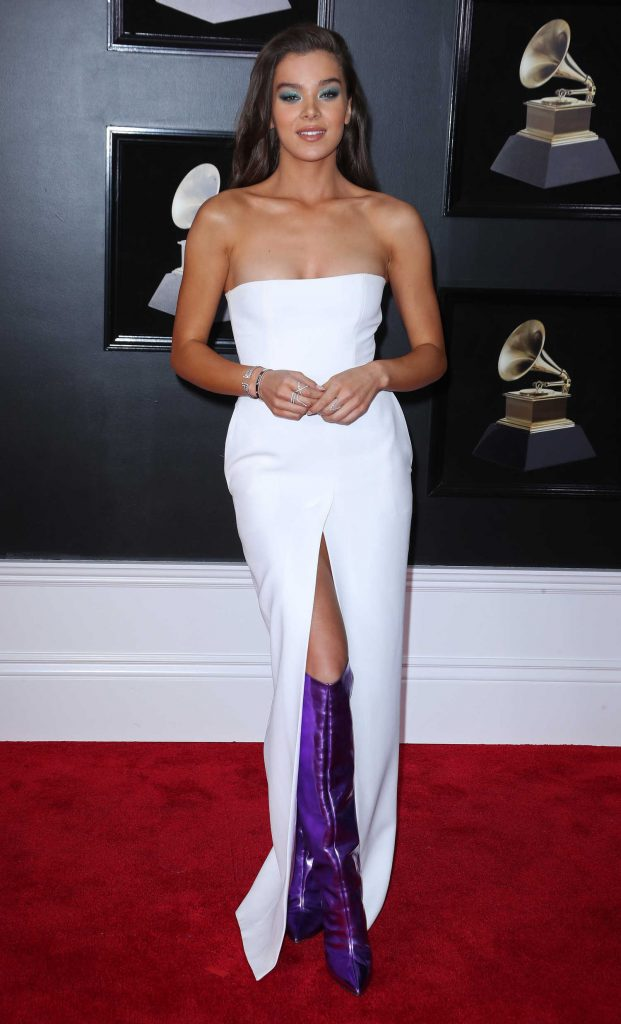 Hailee Steinfeld at the 60th Annual Grammy Awards at Madison Square Garden in New York City-1