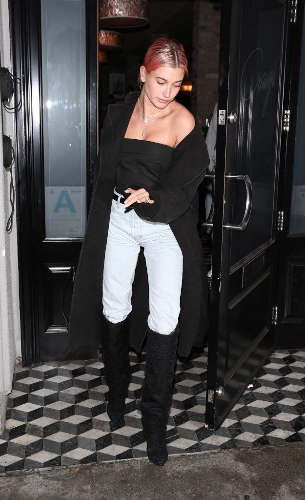 Hailey Baldwin Leaves Craigs Restaurant in West Hollywood-2