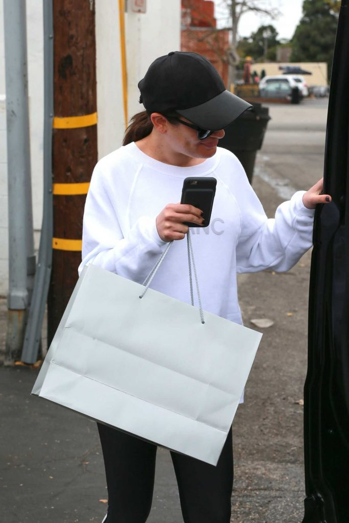 Lea Michele Leaves the Brentwood Spa and Salon in Brentwood-5