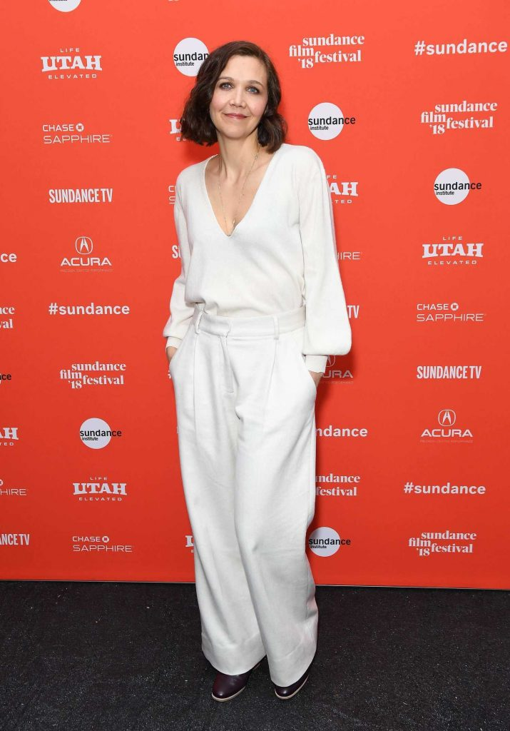 Maggie Gyllenhaal at Un Traductor Premiere During 2018 Sundance Film Festival in Park City-2