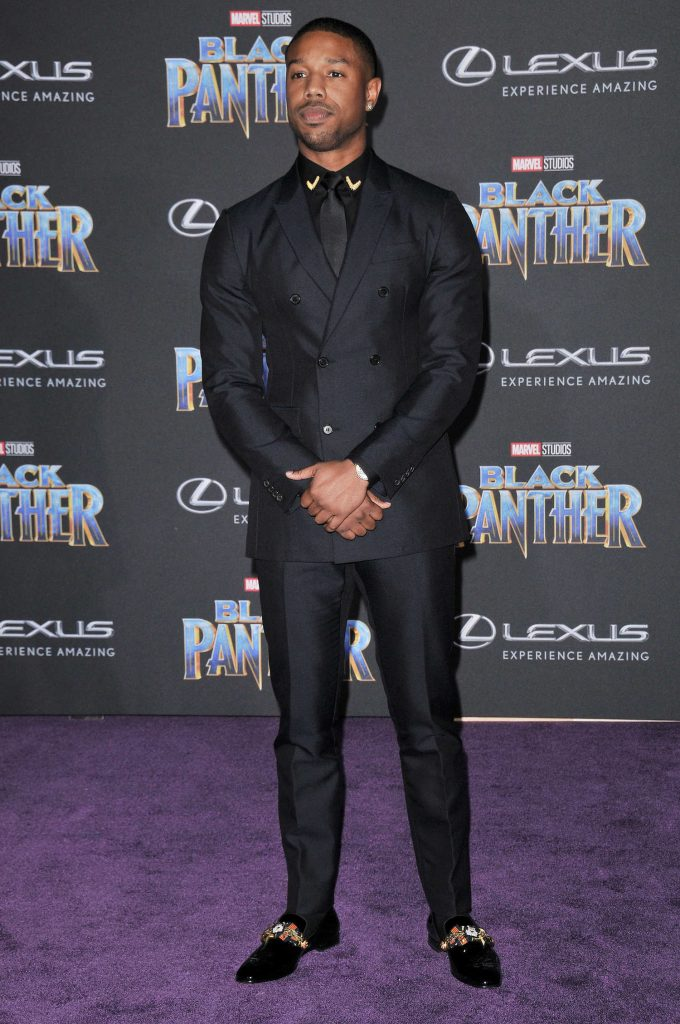 Michael B. Jordan at the Black Panther Premiere in Hollywood-2