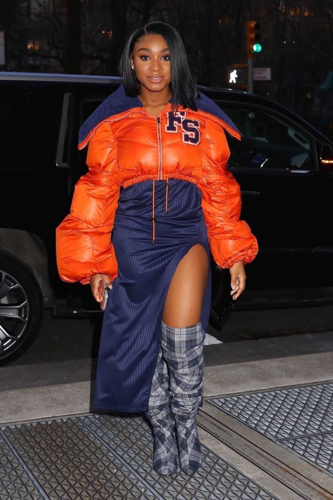 Normani Kordei Arrives to the Sony Building in NYC-5