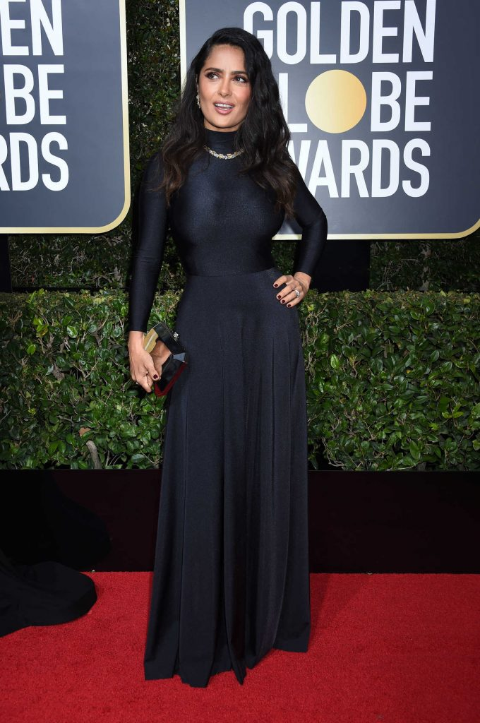 Salma Hayek at the 75th Annual Golden Globe Awards in Beverly Hills-1