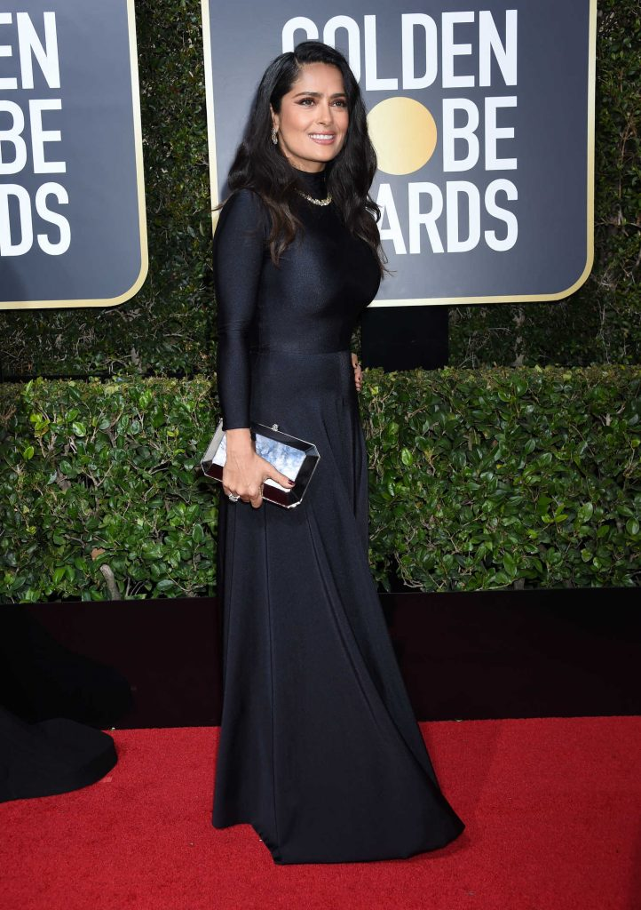 Salma Hayek at the 75th Annual Golden Globe Awards in Beverly Hills-2