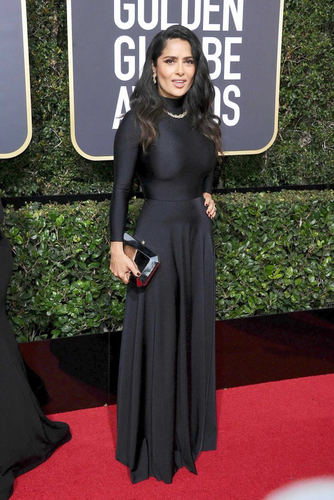 Salma Hayek at the 75th Annual Golden Globe Awards in Beverly Hills-3